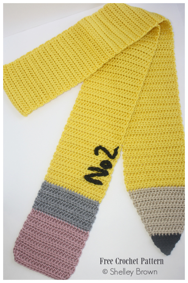 Quick Pencil Scarf Free Crochet Patterns