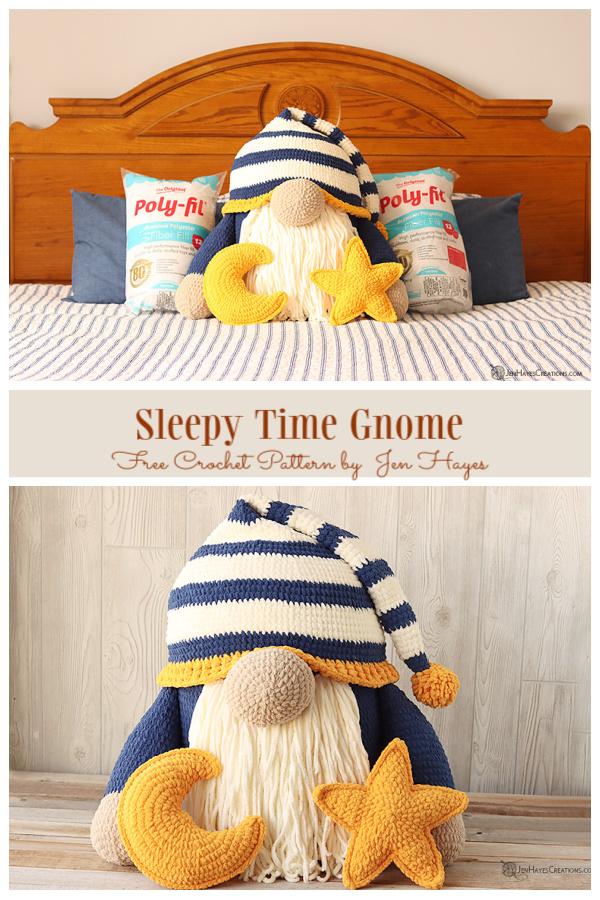 Sleepy Time Gnome Free Crochet Patterns