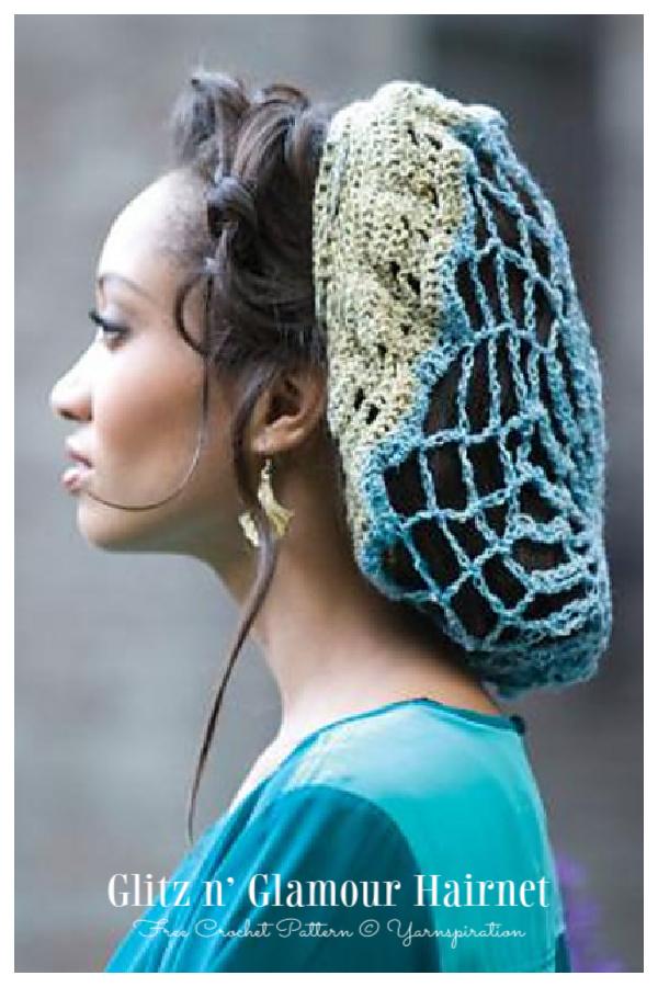 Glitz n' Glamour Hair Net Free Crochet Patterns