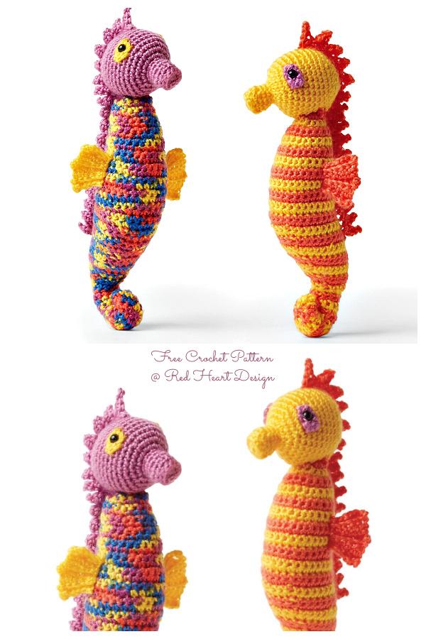 Amigurumi Dancing Seahorses Free Crochet Patterns