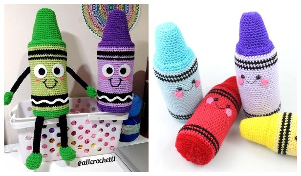 Crochet Crayon Amigurumi Free Patterns