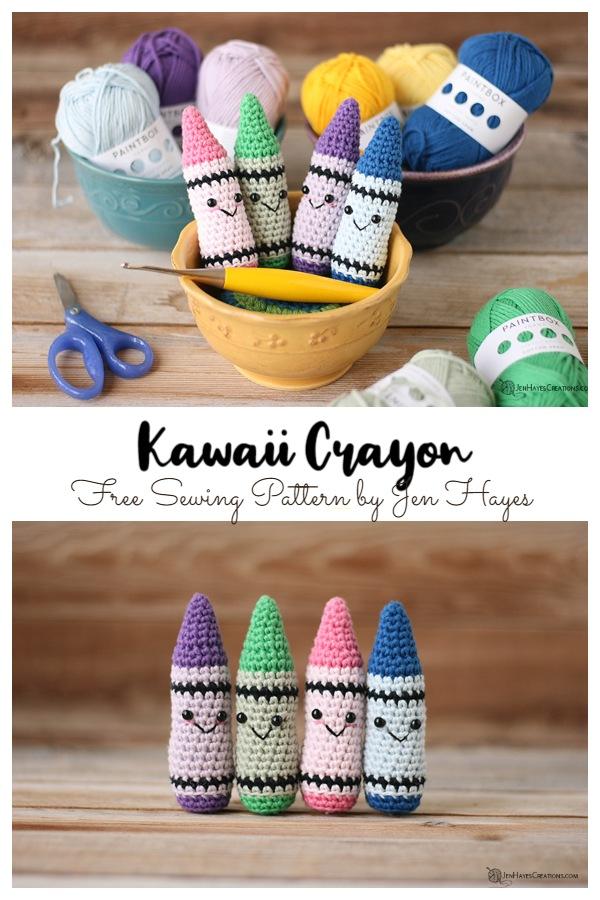 Crochet Kawaii Crayon Amigurumi Free Patterns