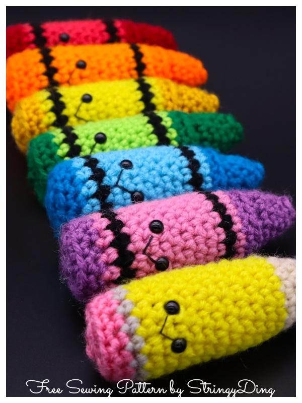 Crochet Scrap Crayon Amigurumi Free Patterns