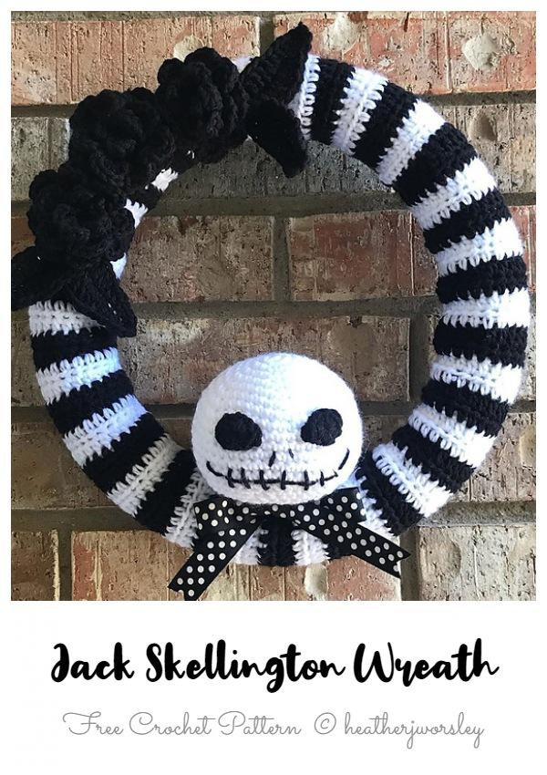 Jack Skellington Wreath Free Crochet Patterns