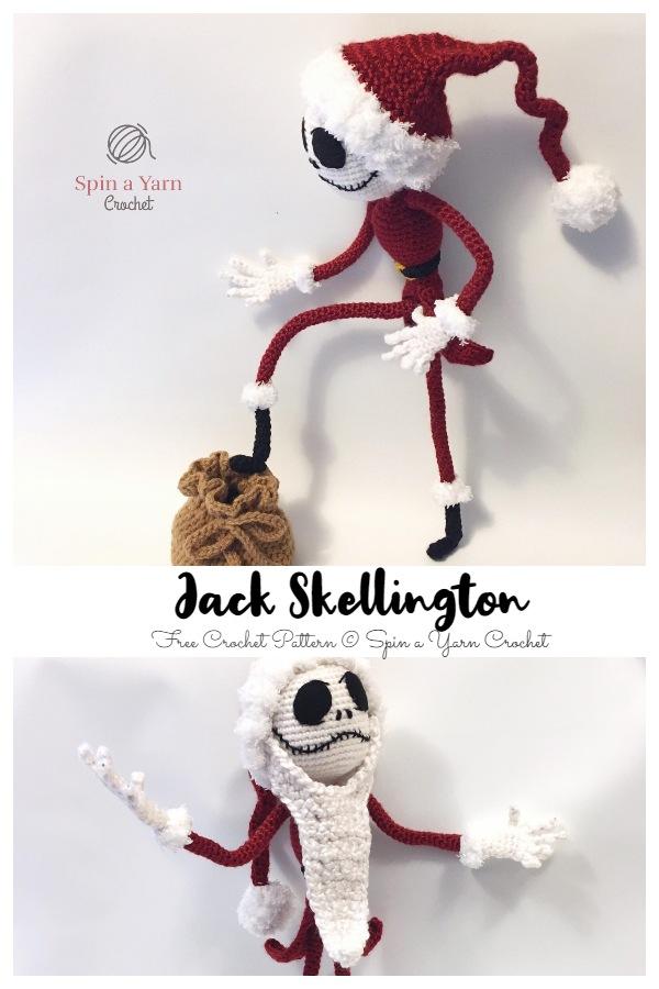 Crochet Jack Skellington Amigurumi Fee Patterns