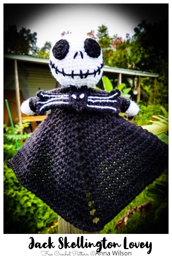 Crochet Jack Skellington Lovey Free Patterns