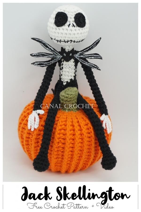 Crochet Jack Skeleton Amigurumi Free Patterns + Video