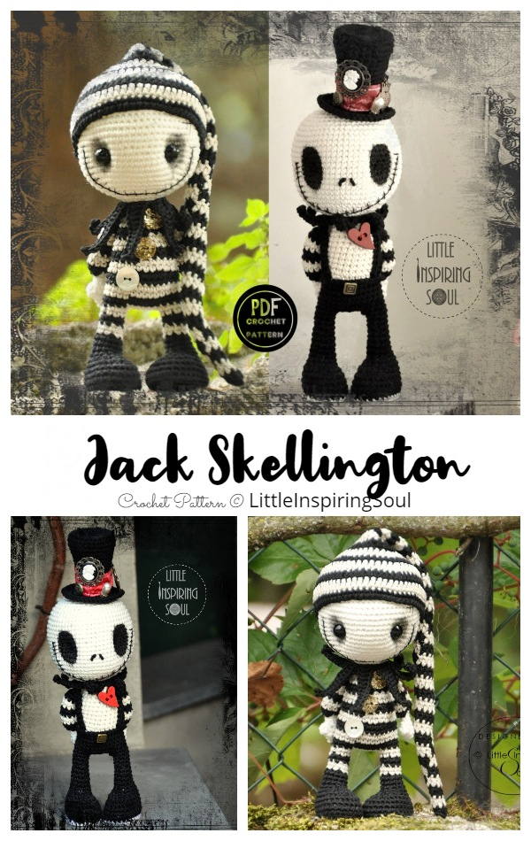 Crochet Jack Skellington Doll Amigurumi Patterns
