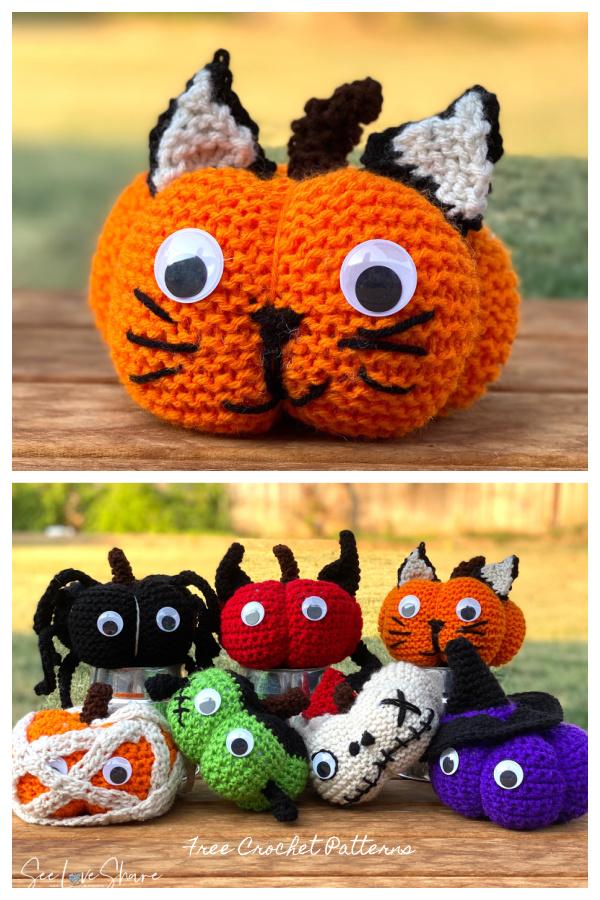 Crochet Lil Monsters Kitty Cat Pumpkin Amigurumi Free Patterns