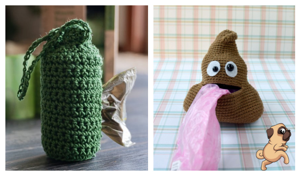 Dog Waste Bag Holder Free Crochet Patterns