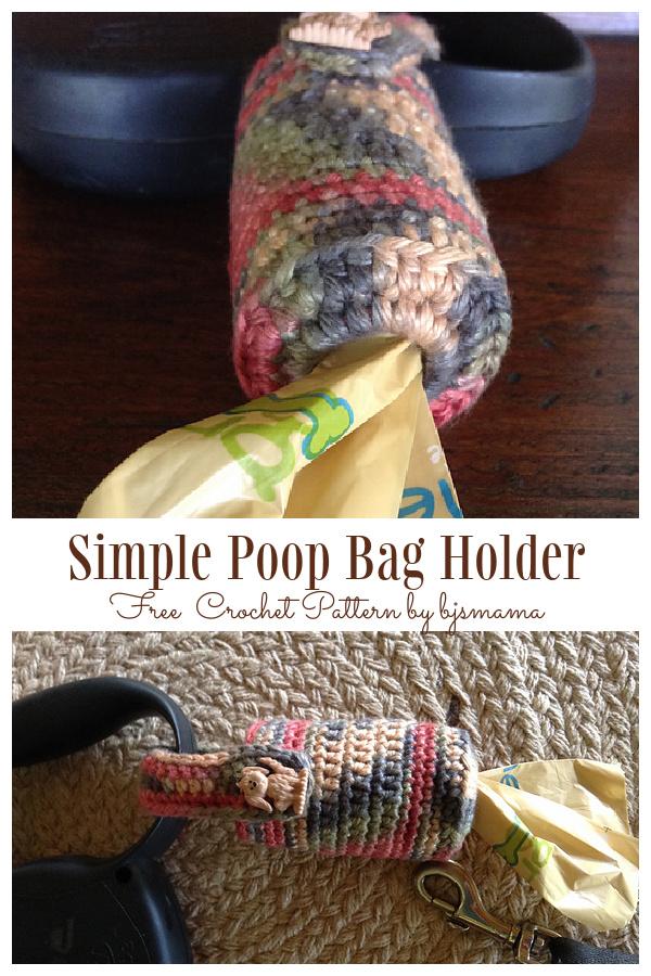 Simple Dog Poop Bag Holder Free Crochet Patterns