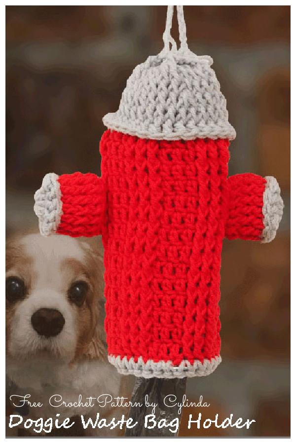 Doggie Waste Bag Holder Free Crochet Patterns