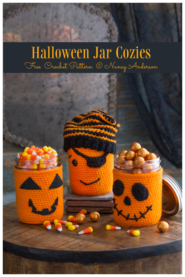 Halloween Jar Cozy Free Crochet Patterns
