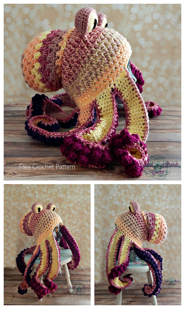 Halloween Octopus Hat Free Crochet Patterns