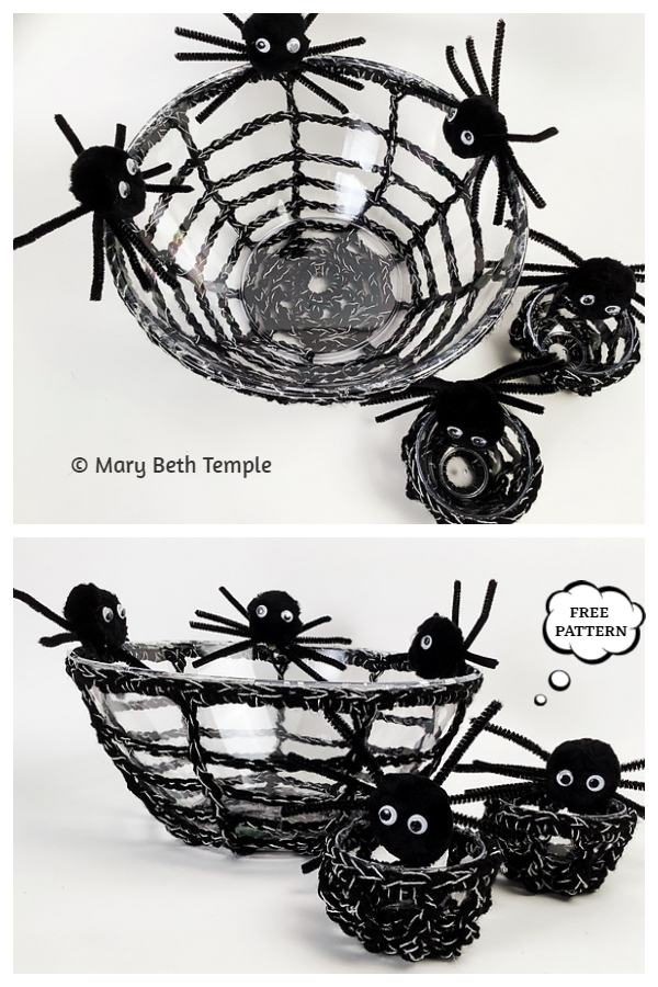 Halloween Snack Bowl and Cup Set Free Crochet Patterns