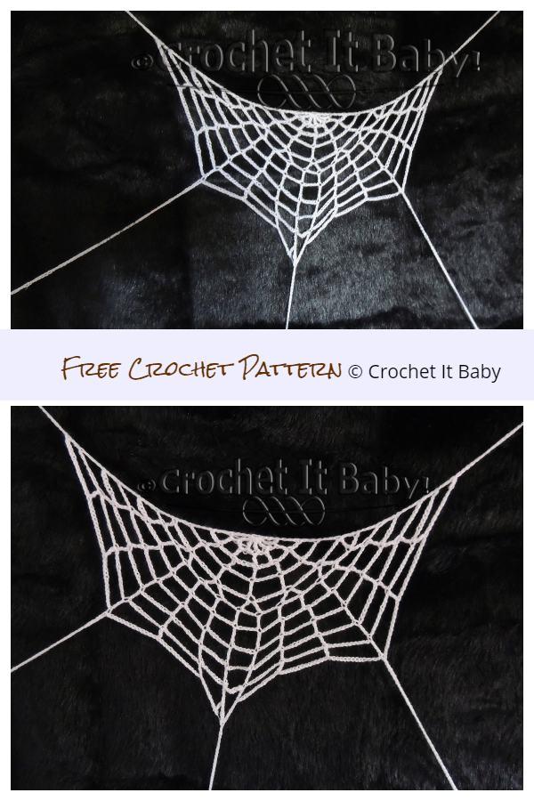 Halloween Half Spiderweb Free Crochet Patterns