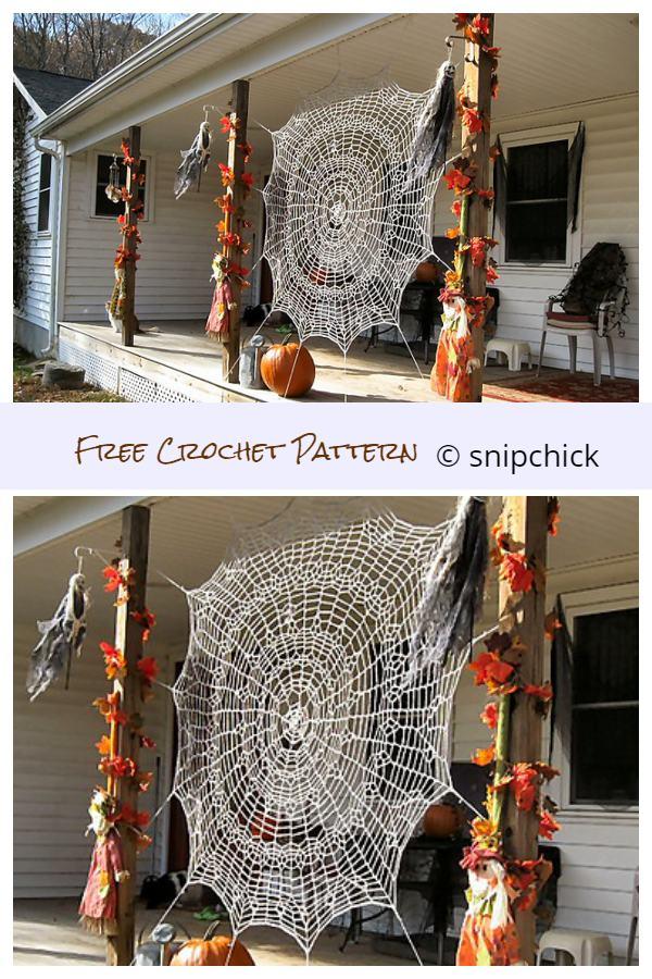 Halloween Spider Web Free Crochet Patterns