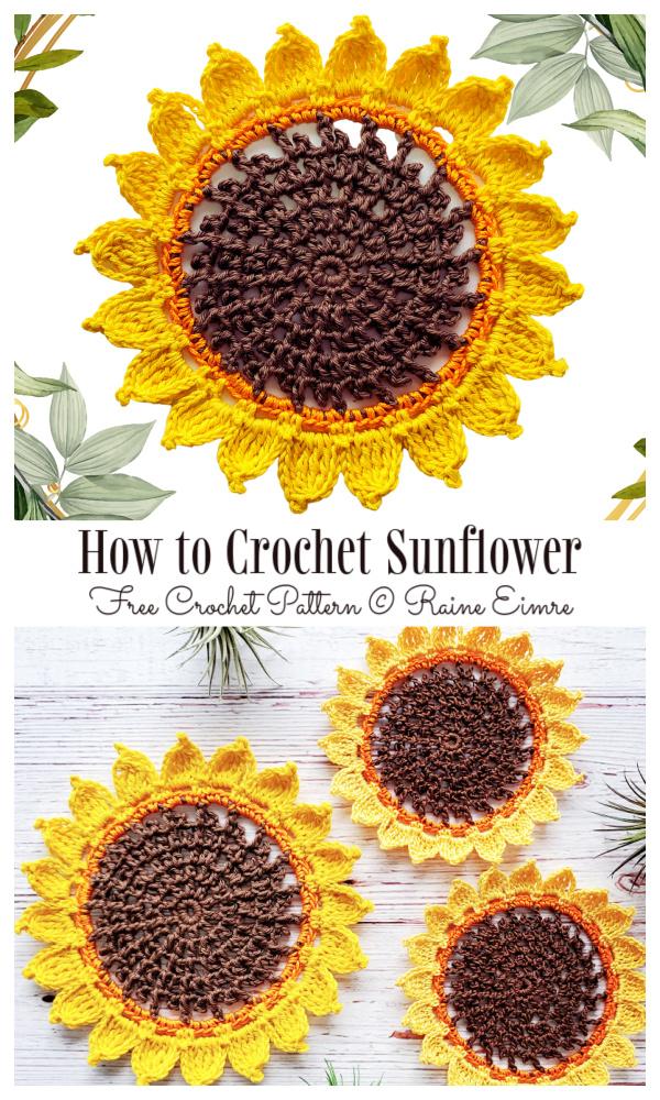 How to Crochet Sunflower Free Crochet Patterns
