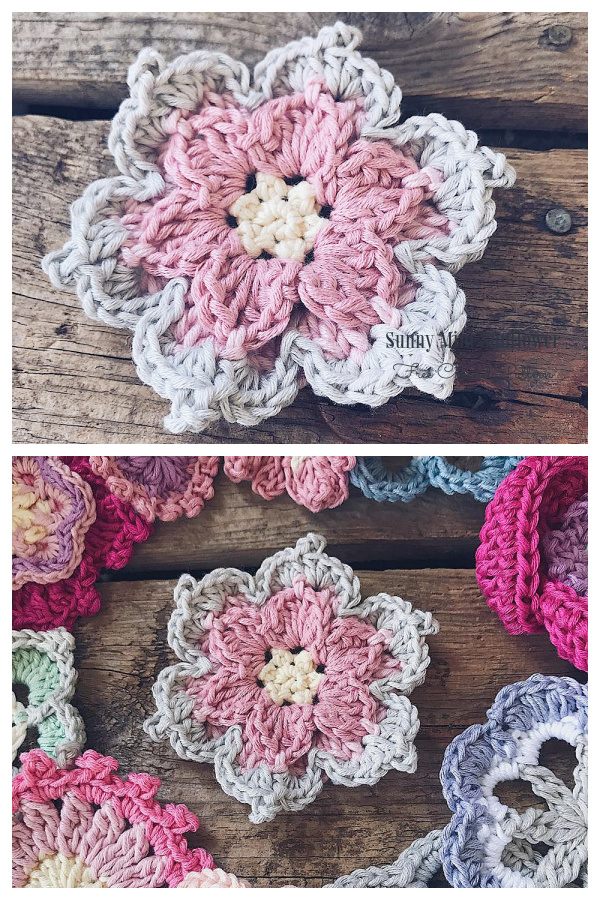 The L.A. Sunflower Free Crochet Patterns