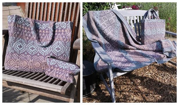 Interlocking Crochet Blanket Free Crochet Patterns