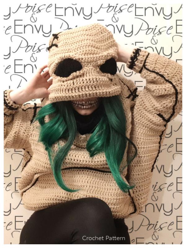 Oogie Boogie Adult Wraith Hoodie Crochet Patterns