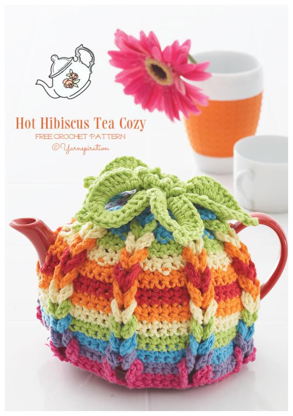 Hot Hibiscus Tea Cozy  Free Crochet Patterns