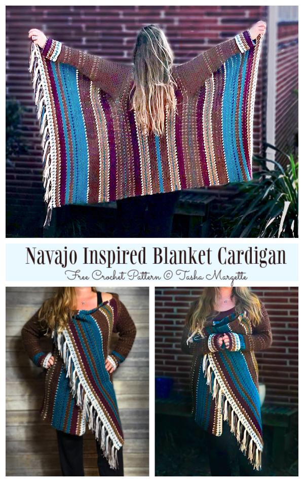 Blanket Cardigan Free Crochet Patterns