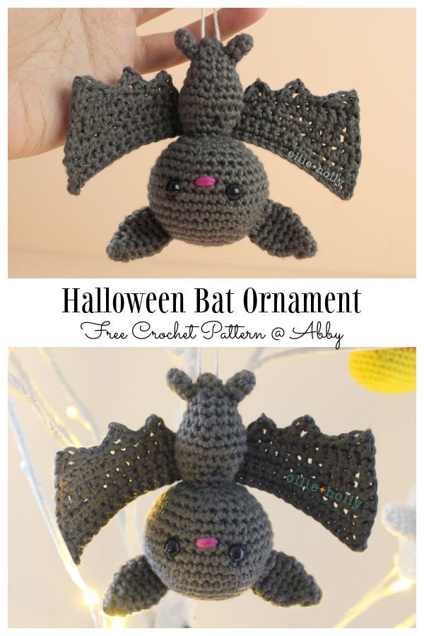 Crochet Halloween Bat Ornament Amigurumi Free Patterns