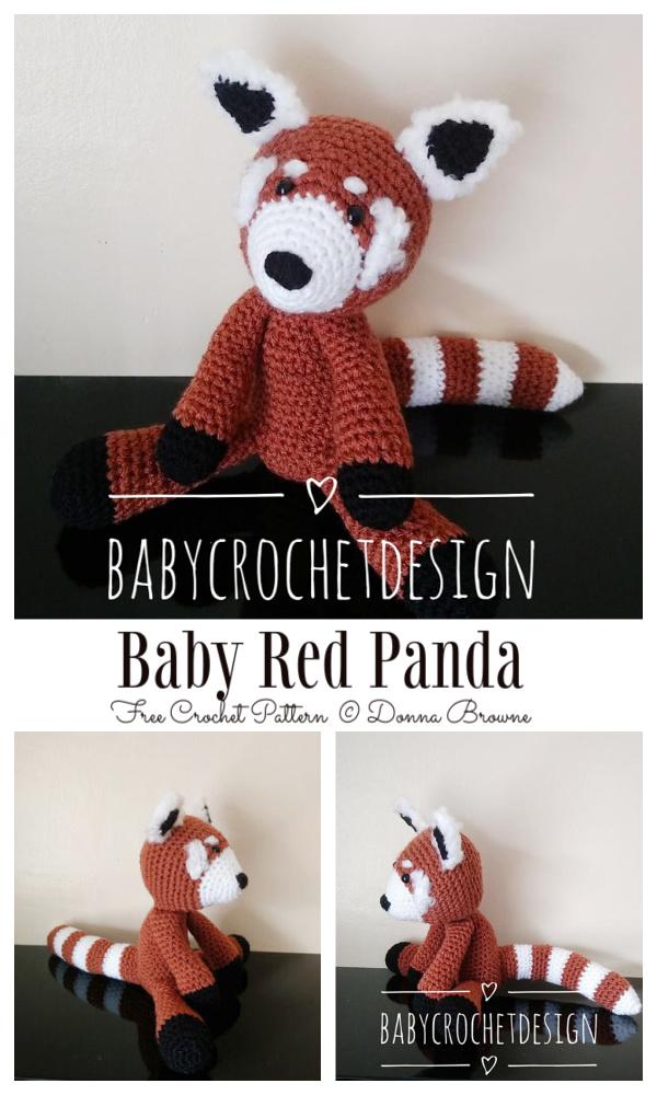 Crochet Baby Red Panda Amigurumi Free Patterns