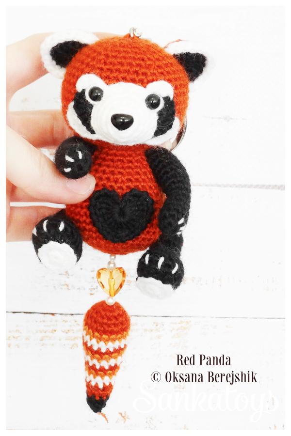 Crochet Keychain Red Panda Amigurumi Patterns