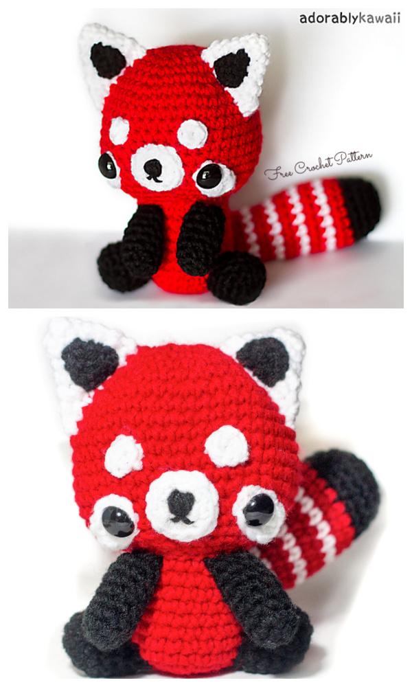 Crochet Red Panda Amigurumi Free Patterns