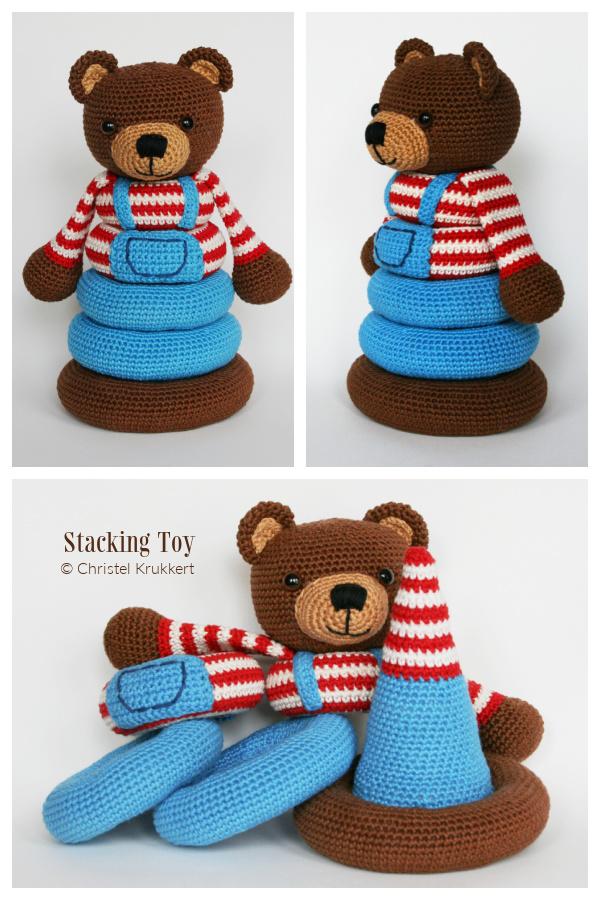 Fun Bear Stacking Toys Crochet Patterns