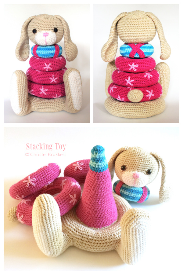 Fun Baby Bunny Stacking Toys Crochet Patterns