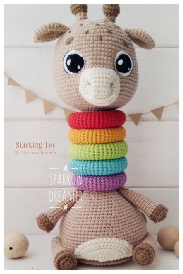 Fun Baby Giraffe Stacking Toys Crochet Patterns