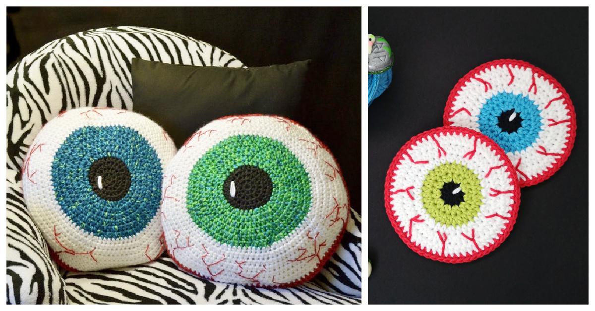 Halloween Eyeball Free Crochet Patterns