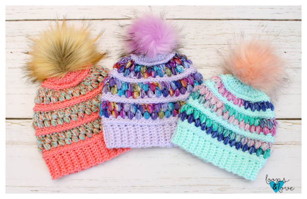 Fabulous Puff Stitch Hat Free Crochet Patterns