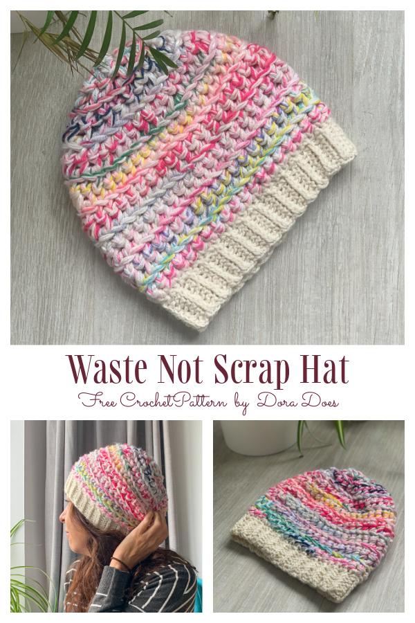 Waste not want not Scrap Hat Free Crochet Patterns