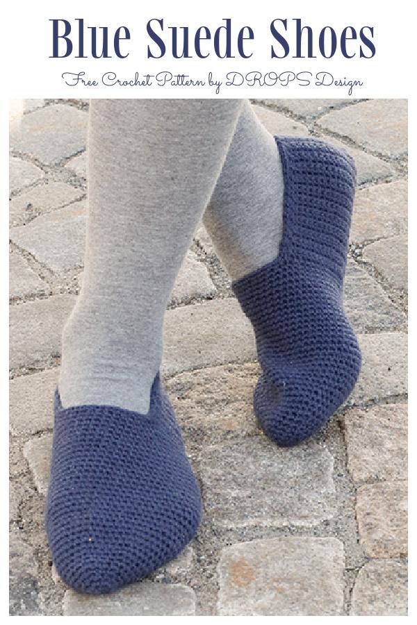 Blue Suede ShoesSlippers Free Crochet Patterns