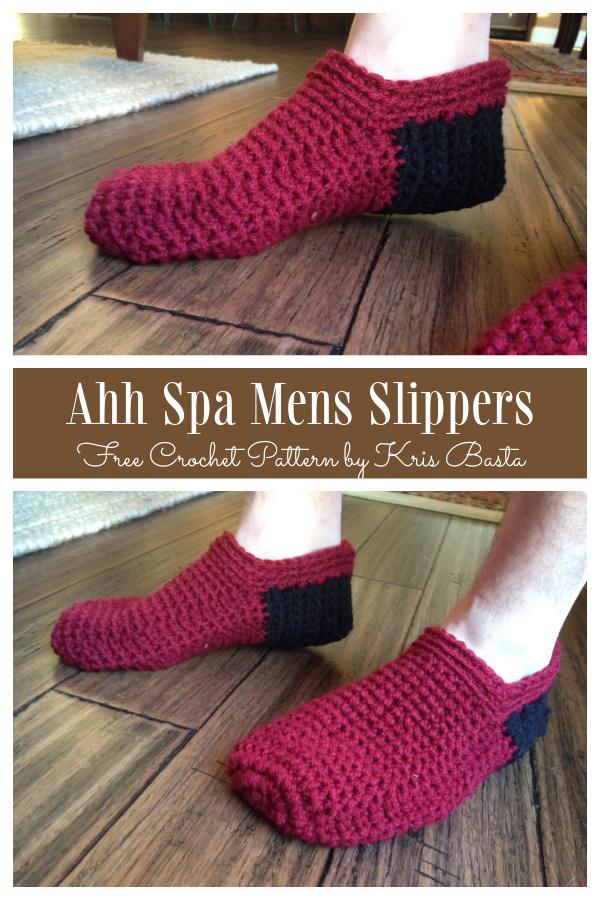 Ahh Spa Men Slippers Free Crochet Patterns