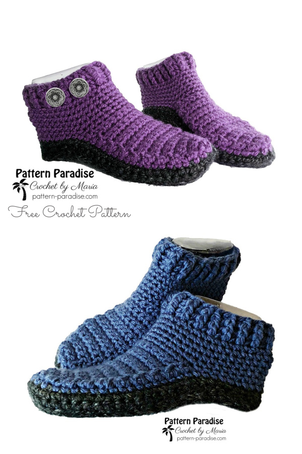 Monticello Slippers Free Crochet Patterns
