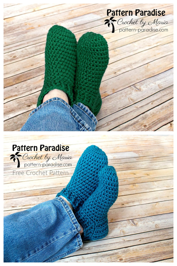 Snappy Slippers Free Crochet Patterns