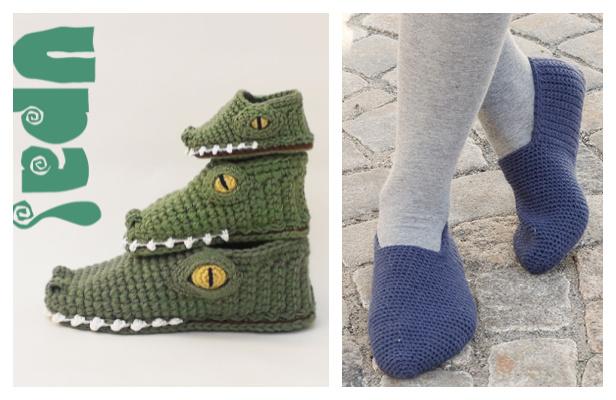 Unisex Slippers Free Crochet Patterns